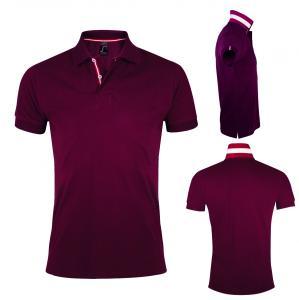 Divkrāsu vīriešu polo krekls