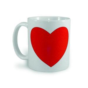 Krūzīte ar krāsu mainošu sirsniņu<br>Tilpums: 330 ml